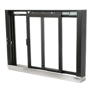 CRL SCDW1803DU Duranodic Bronze Self-Closing Deluxe Sliding Service Windows with Stainless Steel Sill