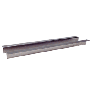 "Brushed Stainless Steel 48"" Shelf Brackets"