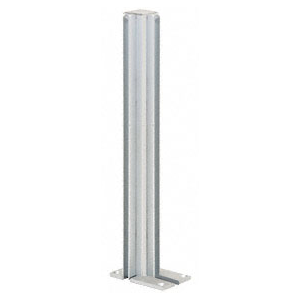 "CRL D992A36RHCE Satin Anodized 36"" Right Hand Closed End Standard Partition Post"