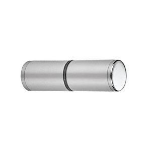 CRL SDKP112CH Polished Chrome Cylinder Style Back-to-Back Shower Door Knobs With Plastic Sleeve