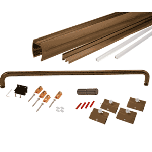 """CRL CK1472600RB Oil Rubbed Bronze 72"""" x 60"""" Cottage CK Series Sliding Shower Door Kit with Clear Jambs for 1/4"""" Glass"""