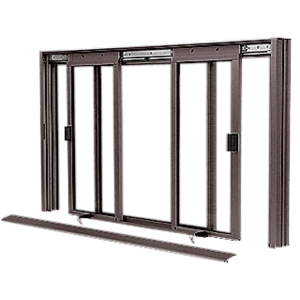 CRL DW5000DU Duranodic Bronze DW Series Manual Deluxe Sliding Service Window XOX Without Screen