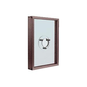 CRL S1VEDU Duranodic Bronze Aluminum Standard Inset Frame Exterior Glazed Vision Window