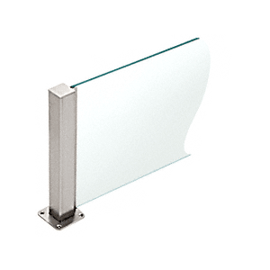 """CRL PP43CBS Brushed Stainless 12"""" High 1-1/2"""" Square PP43 Plaza Series Counter/Partition Center Post"""