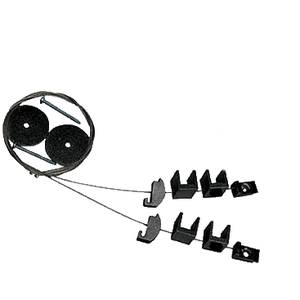 "CRL CSB75B Black Cable Shelf Bracket System for 5/8"" to 3/4"" Shelves"
