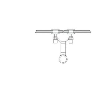 """CRL AMS0B112CBS Brushed Stainless 1-1/2"""" Diameter Spider Fitting Post adaptor- Custom Length"""