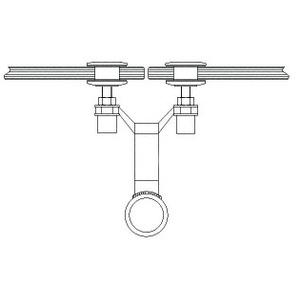 """CRL AMS0B2CBS Brushed Stainless 2"""" Diameter Spider Fitting Post adaptor- Custom Length"""