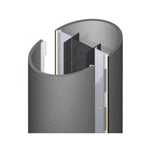 CRL DCE20CMP Custom Mica Platinum Deluxe Series Elliptical Column Covers Two Panels Opposing