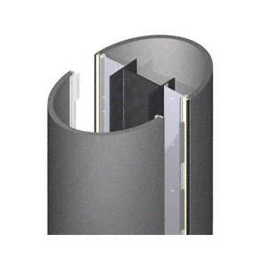 CRL DCE45CMP Custom Mica Platinum Deluxe Series Elliptical Column Covers Four Panels Staggered