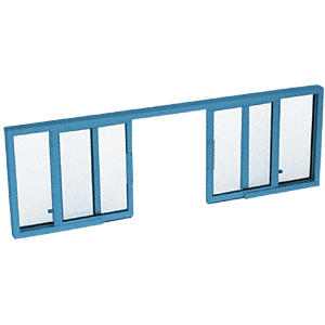 "CRL SW3414P Custom Powder Painted Horizontal Sliding Service Window OXXO Format with 1/4"" Glass no Screen"