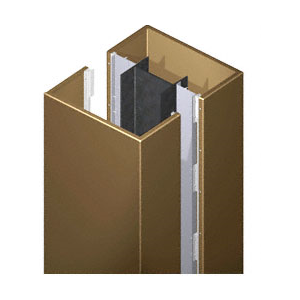 CRL DCS40CPBRZ Custom Polished Bronze Deluxe Series Square Column Covers Four Panels Opposing