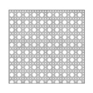 CRL PN180CPC Custom Perforated Infill Panel - Octagon Cane Holes