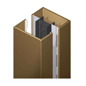 CRL PCS45CPBRZ Custom Polished Bronze Premier Series Square Column Covers Four Panels Staggered