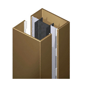 CRL ECS45CPBRZ Custom Polished Bronze Standard Series Square Column Covers Four Panels Staggered