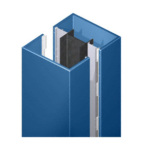 CRL DCS20CPT Custom Color Powder Painted Deluxe Series Square Column Covers Two Panels Opposing