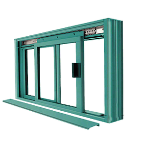 CRL DW1800K Custom Color Custom KYNAR Paint DW Series Manual Deluxe Sliding Service Window OX or XO without Screen