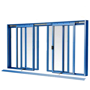 CRL DW3600K Custom KYNAR Paint DW Series Four Panel Manual Deluxe Sliding Service Window OXXO with Screen