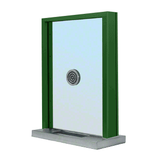 """KYNAR Painted (Specify) Aluminum Standard Inset Frame Exterior Glazed Exchange Window with 12"""" Shelf and Deal Tray"""