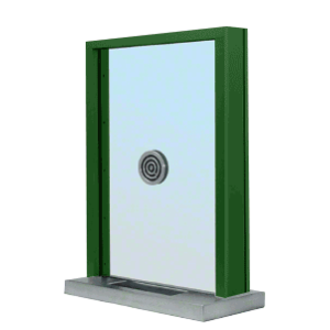 "KYNAR Painted (Specify) Aluminum Standard Inset Frame Exterior Glazed Exchange Window with 18"" Shelf and Deal Tray"