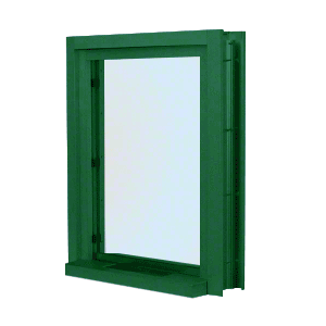 "CRL C01W18K KYNAR Painted (Specify) Aluminum Clamp-On Frame Interior Glazed Exchange Window with 18"" Shelf and Deal Tray"