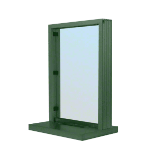 "CRL N11W12K KYNAR Painted (Specify) Aluminum Narrow Inset Frame Interior Glazed Exchange Window with 12"" Shelf and Deal Tray"
