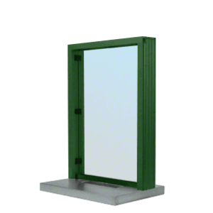 "CRL S11W12K KYNAR Painted (Specify) Aluminum Standard Inset Frame Interior Glazed Exchange Window with 12"" Shelf and Deal Tray"