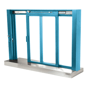 CRL SCDW1804K Custom KYNAR Painted Finish Self-Closing Deluxe Sliding Service Window with Stainless Steel Sill