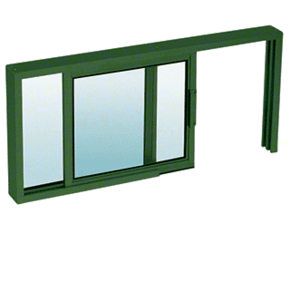 "CRL SW1814K Custom KYNAR Painted Horizontal Sliding Service Window XO or OX Format with 1/4"" Glass Only - No Screen"