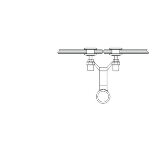 """CRL AMS0B2CPS Polished Stainless 2"""" Diameter Spider Fitting Post adaptor- Custom Length"""