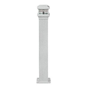 "CRL PCL1S Metallic Silver Decorative Cap Light for 4"" x 4"" Vertical Aluminum Post"