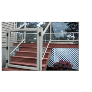 """CRL 35GG3642S Silver Metallic 36"""" 350 Series Aluminum Railing System Gate for 1/4"""" to 3/8"""" Glass"""