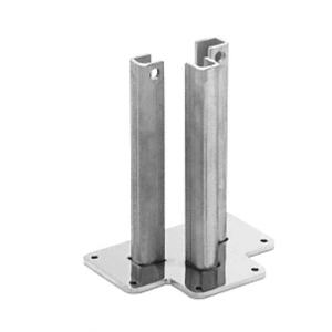 """CRL BPTST30 Steel Surface Mount Stanchion for up to 72"""" Barrier 3-Way Post"""