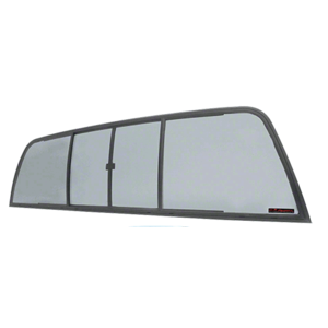 CRL EDV910S Duo-Vent Four Panel Slider with Solar Glass for 1994-1996 Dodge Dakota Standard Cab