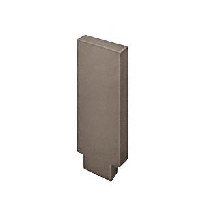 632 Series Aluminum Flat Dark Bronze Anodized End Caps for Wood Cap Railings