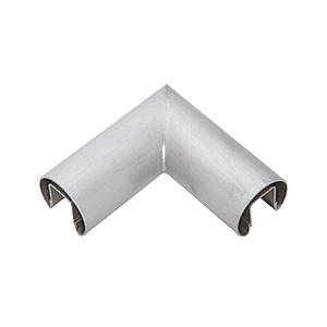 "CRL GR16HBS Brushed Stainless 1.66"" Diameter 90 Degree Horizontal Corner for 1/2"" or 5/8"" Glass Cap Railing"