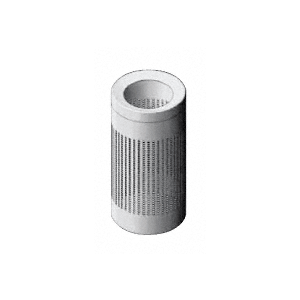 Architectural Brushed Stainless Trash Receptacles