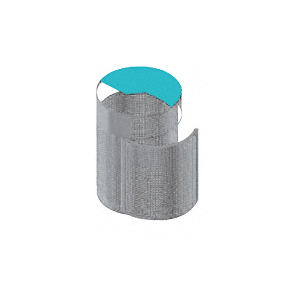 Architectural Brushed Stainless Trash Receptacles with Door