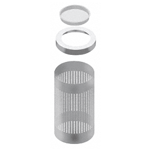 Architectural Non-Directional Stainless Ash Receptacles