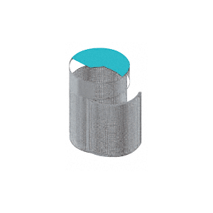 Architectural Non-Directional Stainless Trash Receptacles with Door
