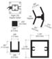 "CRL D990BA12135R Brite Anodized 12"" 135 Degree RH Center Design Series Partition Post"