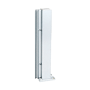 "Brite Anodized 14"" 135 Degree RH Center Design Series Partition Post"
