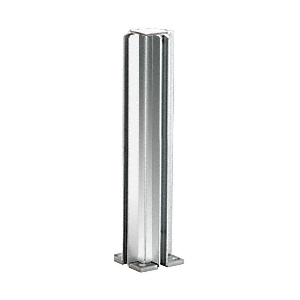 "Brite Anodized 14"" 3-Way Design Series Partition Post"