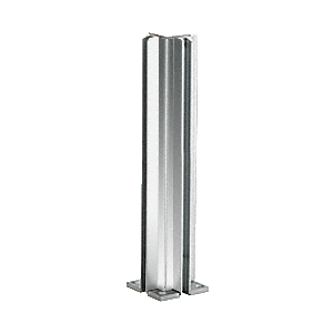 "Brite Anodized 14"" Corner Design Series Partition Post"