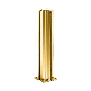 "Brite Gold Anodized 14"" Corner Design Series Partition Post"