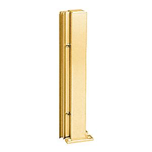 "Brite Gold Anodized 16"" 135 Degree RH Center Design Series Partition Post"