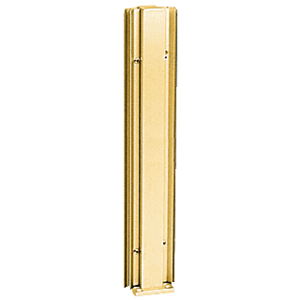 "Brite Gold Anodized 24"" 45 Degree Center Design Series Partition Post"