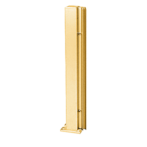 "Brite Gold Anodized 30"" 135 Degree LH Center Design Series Partition Post"