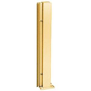 "Brite Gold Anodized 30"" 135 Degree RH Center Design Series Partition Post"