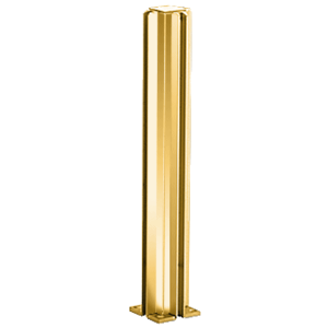 """Brite Gold Anodized 30"""" 3-Way Design Series Partition Post"""