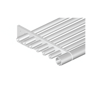 """Clear Anodized 4"""" Round Tube Fascia - 146"""" Length"""